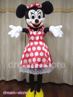 Nuovo Professional Minnie Mouse Adulto Costume Della Mascotte Halloween