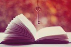 Heart Shaped Key Open Book HD Wallpaper