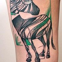 Never thought a zebra tattoo could look so cool. Peter Aurisch