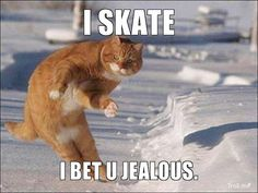 I skate. I bet you jealous.  HAHA this is for the STUPID CHICAGOLAND skaters......YOU SILLY thugs....TRY NOT BODY CHECKING during practices....you look like HOCKEY PLAYERS not FIGURE SKATERS...