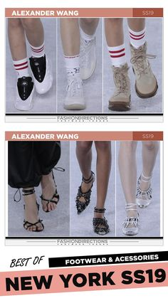 #nyfw #2018 #ss19 #bestof #womens #footwear #shoes #handbags #trends #fashion #accessories #fashiondirections #alexanderwang Nyfw 2018, Footwear Shoes, Ulla Johnson, Designer Shoes, Combat Boots, Tory Burch, Fashion Accessories, Fashion Design, Fashion Trends