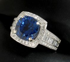 SAVE $1895 on the 3rd most popular ring in our shop during our SPRING FEVER SALE:  SUPREME 3.48ct Ceylon Sapphire & Diamond Ring