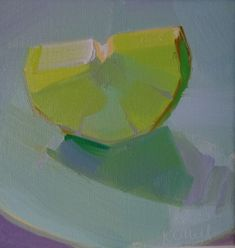 Karen O'Neill: green, lime, square, demo, still life, luminous, light, transparent