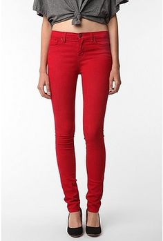 A red, high-rise jean? Yes, please!