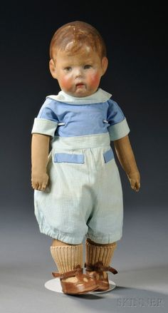 early Kathe Kruse boy doll (like the ones I stared at lovingly through the glass in our museum!)