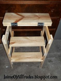 This DIY step stool would make the perfect addition to your workshop. Find out how to make one of your own!