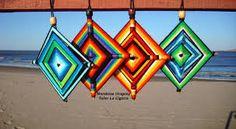 70 best images about God's Eye Fun Crafts, Diy And Crafts, Pattern Baby, Gods Eye, Hispanic Heritage, Finger Knitting, Mandala Art, Needle And Thread, Diamond Shapes