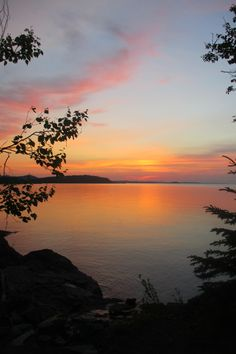 Presque Isle Park  Sunset Marquette Michigan 2015
