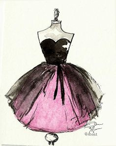 http://elainebiss.tumblr.com/post/37783733680 #fashion #watercolor #elainebiss