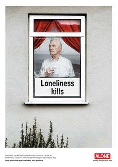 A solidão mata. Um projeto que apoia pessoas da terceira idade.