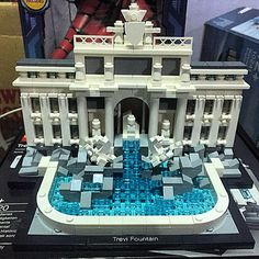 Well done to my wife @filala15 for complete one of her masterpiece Recreate a truly iconic landmark of Rome – the Trevi Fountain! Construct a detailed LEGO® brick model of the world-famous Trevi Fountain, the largest fountain in Rome. Designed by Nicola Salvi, the 'Fontana di Trevi' took 30 years to build and was completed by his friend – the sculptor, Pietro Bracci – in 1762, 11 years after Salvi's death. This stunning Baroque monument carved from Travertine sto