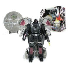 Figura Transformers Star Wars. Darth Vader como Estrella de la muerte, con luz y sonido