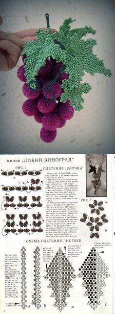 Схема виноградных листиков | biser.info - всё о бисере и бисерном творчестве Embroidery Bracelets, Beaded Bracelets, Bead Crafts, Jewelry Crafts, Fuse Beads, Hama Beads, Minecraft Beads, French Beaded Flowers, Bead Art