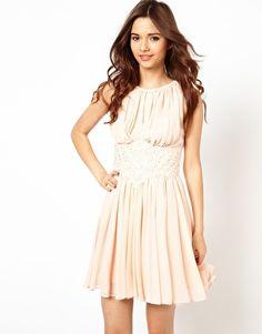 Image 1 ofRiver Island Applique Waisted Dress