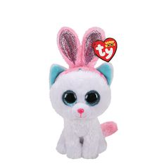 Claire's Ty Beanie Boo Small Purr-ly the Easter Cat Plush Toy All Beanie Boos, Beanie Babies, Ty Beanie Boos Collection, Beanie Boo Birthdays, Ty Toys, Felt Toys, Ty Stuffed Animals, Easter Cats, Ty Plush