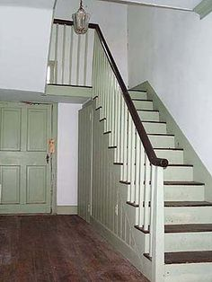 Paint Ideas Stairs on In This Photo Of The Old Staircase In The Dutch Colonial You Can See