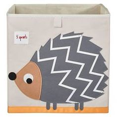 3 Sprouts Fabric Cube Storage Bin - Hedgehog : Target