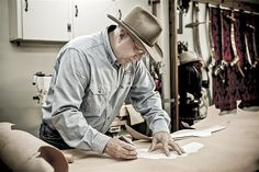 Jim Hastings of Hastings Holsters, Corinth MS (Portrait of an American Craftsman by Tadd Myers) American Craftsman, Holsters, Portrait, Ms, Portrait Illustration, Portraits, Head Shots
