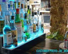 Our 3 tier led liquor shelves are perfect for bars large and small. Whether it's for your restaurant, nightclub or home bar, our bottle displays are sure to make an impact and keep your highest margin liquor out of the dark! Bar Shelves, Glass Shelves, Display Shelves, Liquor Shelves, Shelving, Bar Led, Bar Displays, Bottle Display, Display Homes