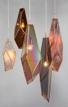 Pendant Light O M G! These are so awesome! Light fixtures like agate slices or iridescent glass, shaped like crystal formations! These are so awesome! Light fixtures like agate slices or iridescent glass, shaped like crystal formations!