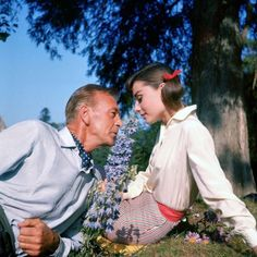 Audrey Hepburn and Gary Cooper in 'Love in the Afternoon', 1957