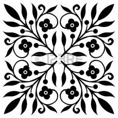 stencil: Floral Pattern Illustration