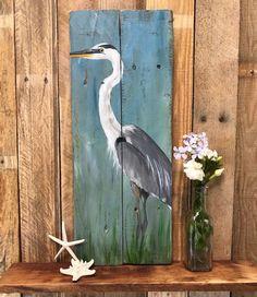 Bird Painting Acrylic, Bird Paintings On Canvas, Painting Tips, Painting Art, Painting On Pallet Wood, Art On Wood, Wood Pallet Art, Pelican Art, Louisiana Art
