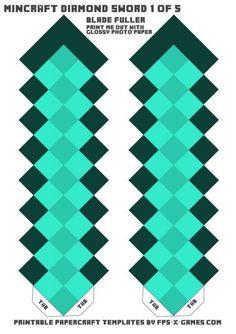 Схема меча из Майнкрафта