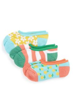 Free shipping and returns on Tucker + Tate 'Fruity Stripe' Liner Socks (3-Pack) (Little Kid & Big Kid) at Nordstrom.com. Super-stretchy liner socks in an assortment of fun colors and prints give your little one plenty of everyday options.
