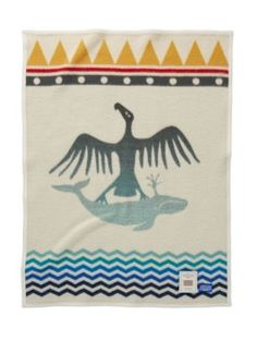 THUNDERBIRD AND WHALE CRIB BLANKET Sales of Pendleton's AICF blankets benefit the American Indian College Fund, providing scholarships to Native Americans to pursue higher education. #GivingTuesday #AICF