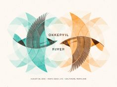 Okkervil River // Baltimore, MD Poster  by DKNG