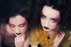 powderdoom:    She Speaks in Velvets - from Glittering Heads DreamPhotographer - Caitlin WorthingtonModels - Alison Caldwell and Madison GoodhuBeauty - Constance BowlesStyling - Hannah Mcgrath