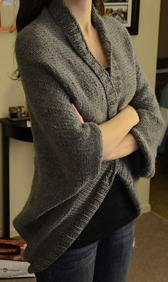 Add a chic statement to your outfit with this tweed shrug. (Lion Brand Yarn)