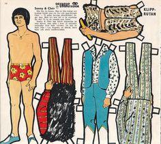Sonny & Cher SONNY BONO Rare Vintage 1960s Pop Music TV Star Paper Doll   eBay