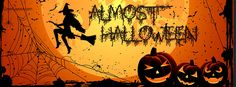 Almost Halloween Witch Pumpkins Facebook Cover coverlayout.com