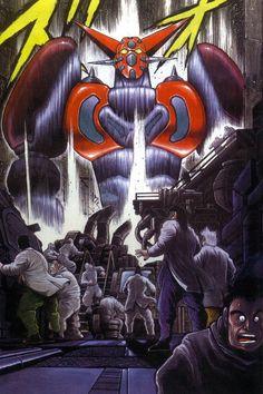 Shin Getter Robot by Ken Ishikawa Gundam, Super Robot Taisen, Days Anime, Real Robots, Mecha Suit, Ishikawa, Mecha Anime, Geek Stuff, Animation