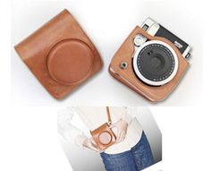 To go with Instax! Leather Camera Case Bag For Fuji Fujifilm Instax mini90, Brown in Cases, Bags & Covers | eBay