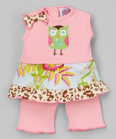 Love this Pink & Green Owl Outfit for 18'' Doll - Girls on #zulily! #zulilyfinds