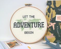 Let the Adventure Begin PATTERN  Modern cross stitch