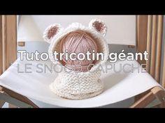 Tuto tricotin : le snood à capuche - 1ère partie / Loom knit a hood - part 1 - YouTube