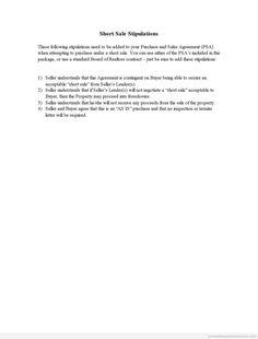 Printable Stipulations Template 2015