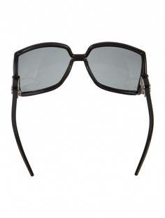 94c2d7c6c52c Black acetate Jimmy Choo Jackie square oversize sunglasses with tinted  lenses.  JimmyChoo Oversized Sunglasses