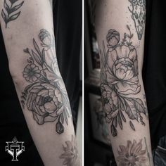 Peony done on Ana friend Peony, Tattoos, Flowers, Tatuajes, Tattoo, Peonies, Royal Icing Flowers, Flower, Florals