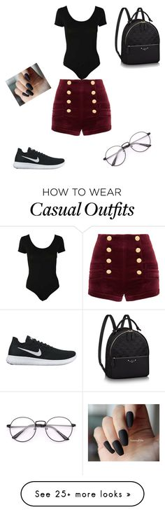 """casual"" by minella11 on Polyvore featuring Pierre Balmain and NIKE"
