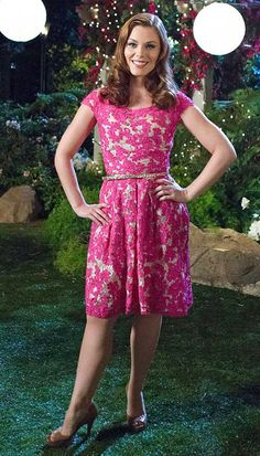 Shop the Show: Hart of Dixie Season 3 Fashion - Episode 2 from #InStyle hot pink lace Yoana Baraschi dresss, Jewel Candy earrings, Vince Camuto heels ($60 at nordstrom.com), and a belt by Forever 21