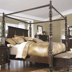 Features:  -Made with select veneers, swirl accents and hardwood solids.  -Dark brown, gently distressed finish.  -Side rails and bed frame not included.  -Dark bronze color hardware.  -Milo collectio
