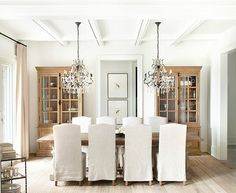 Marcus Design: {designer profile: kelly deck} - love the double chandelier!