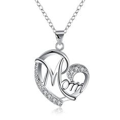 a5237740c Love Mom Gift Great Mama Pendant Necklace - Silver Plated Jewelry Christmas  Gift For Mother MUM Letters Heart Pendant Wholesale