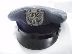 WWII Civil Air Patrol Hat with Insignia Badge by kickstartvintage, $48.00