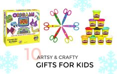 10 ARTSY & CRAFTY GIFTS FOR KIDS (WITH AMAZON PRIME) Snowflake Garland, Apple Barrel, Glitter Confetti, Bead Kits, Snowman Ornaments, Program Design, Unique Colors, Pattern Making, Paper Goods